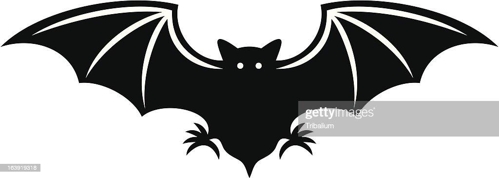 silhouette of bat