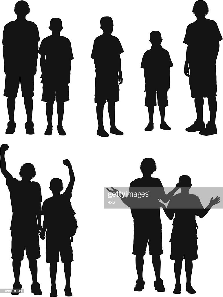 Silhouette of boys