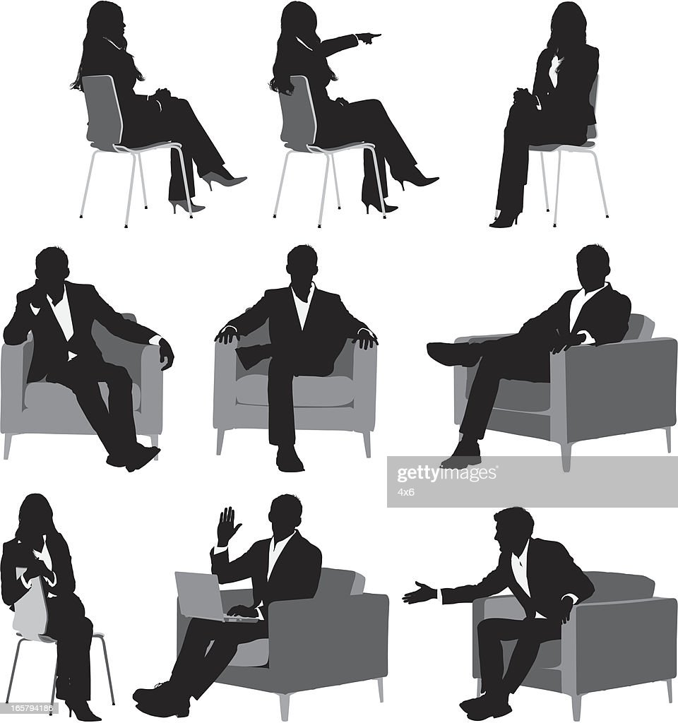 Silhouette der business-Manager : Stock-Illustration
