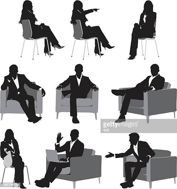 Silhouette of business executives