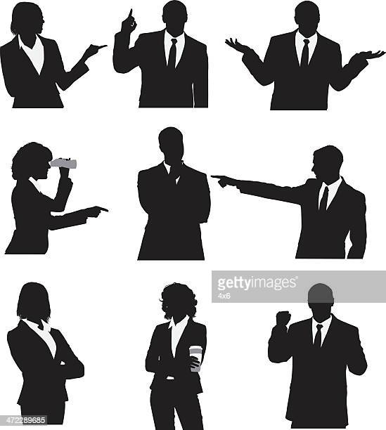 Silhouette der business-Manager