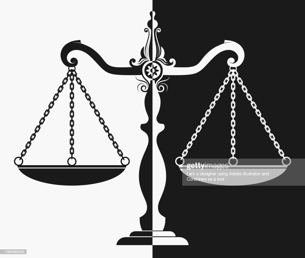 silhouette of court scales