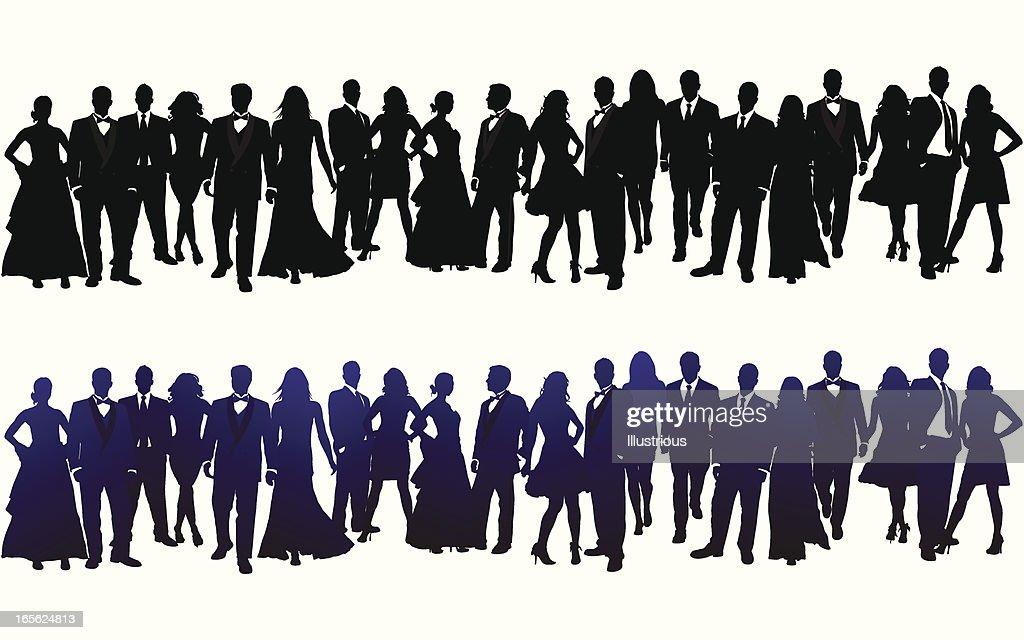 Silhouette of Crowd : stock illustration