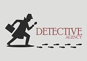 Silhouette of detective agency