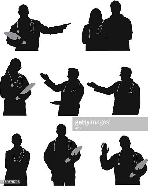 Silhouette of doctors