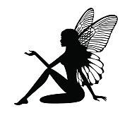 Silhouette of fairy