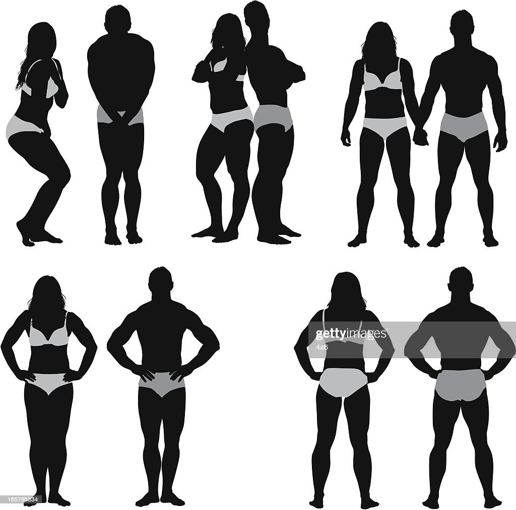 Silhouette Of Fashion Models High-Res Vector Graphic