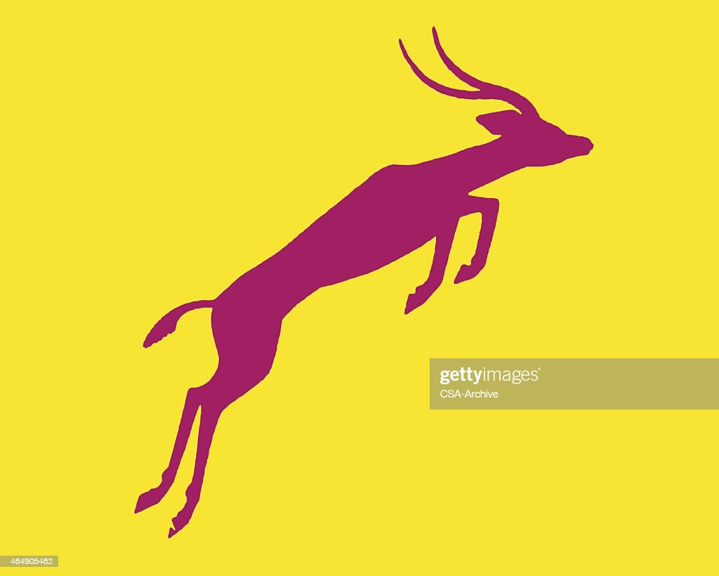 Silhouette of Leaping Gazelle