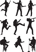 Silhouette of musicians