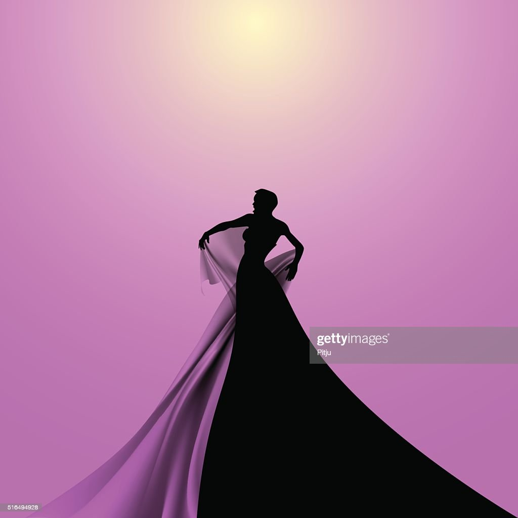 Silhouette of Opera Singer