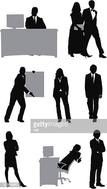 Silhouette von Menschen