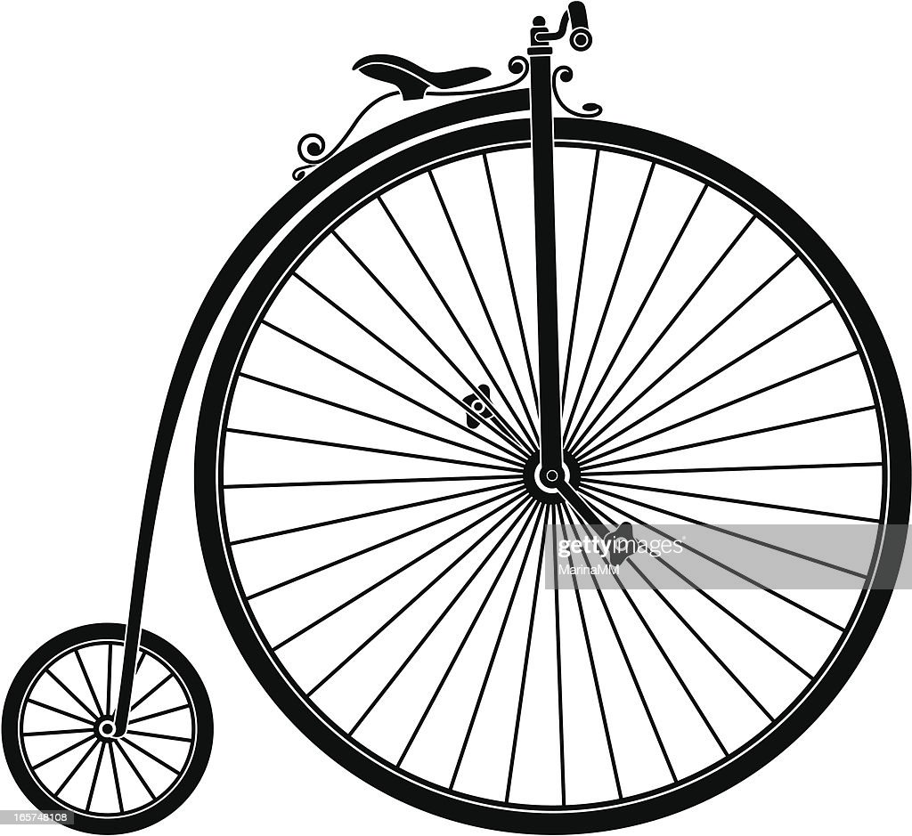 Silhouette Of Retro Bicycle High-Res Vector Graphic ...