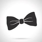 Silhouette of retro bow tie
