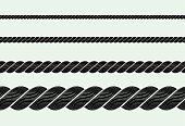 silhouette of rope illustrator