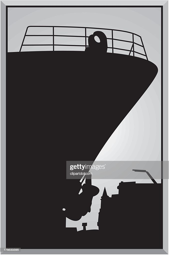 Silhouette of Ship : stock illustration
