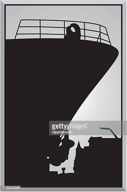 Silhouette of Ship