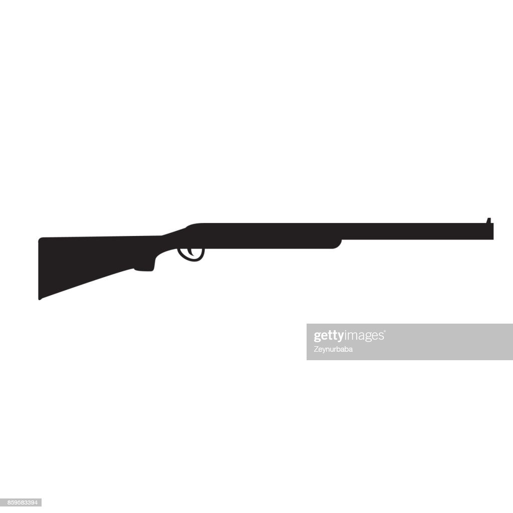 Silhouette of Shotgun, hunting rifle
