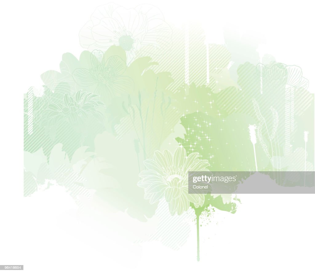 A silhouette of spring using green tones