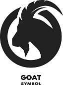 Silhouette of the goat monochrome logo.