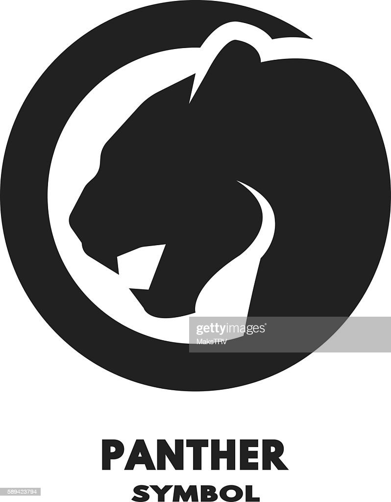 Silhouette of the panther monochrome logo.