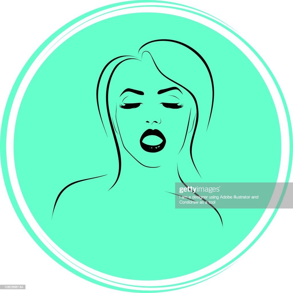 silhouette of womens face