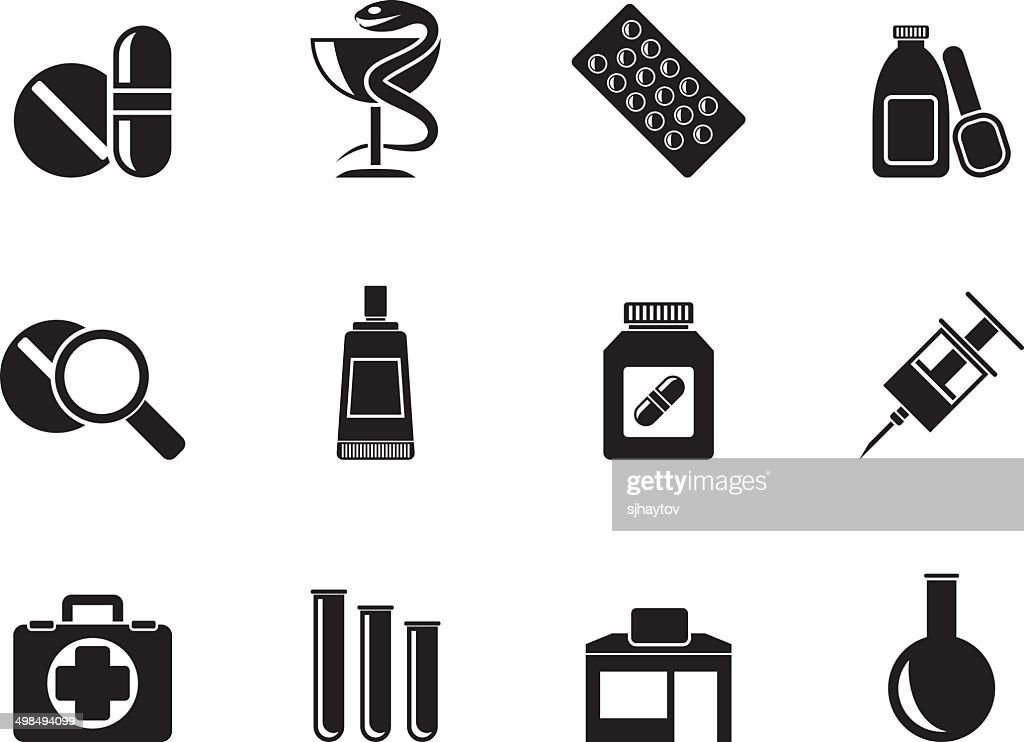 Silhouette Pharmacy and Medical icons