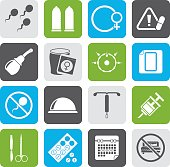 Silhouette Pregnancy and contraception Icons