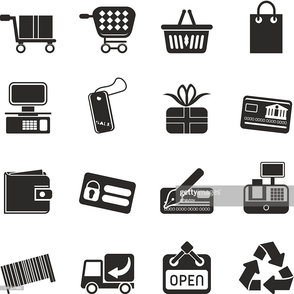 Silhouette Simple Online Shop icons