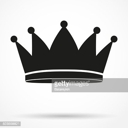 Silhouette Simple Symbol Of Classic Royal King Crown Vector