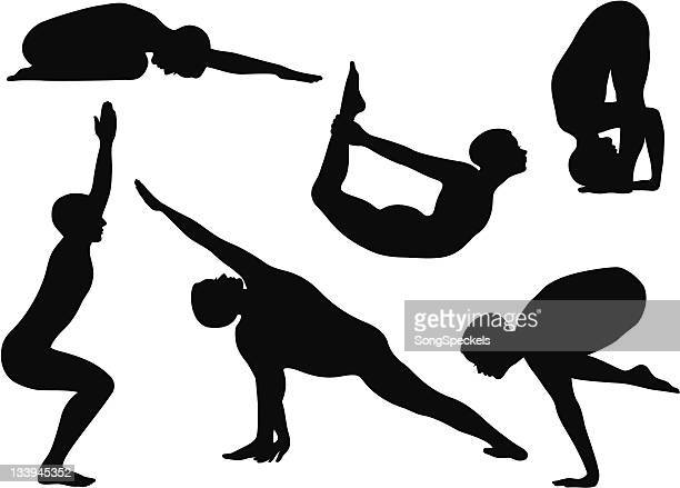 Silhouette Yoga Poses with Men