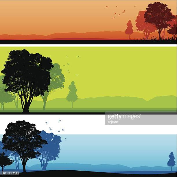 Silhouetted landscape backgrounds
