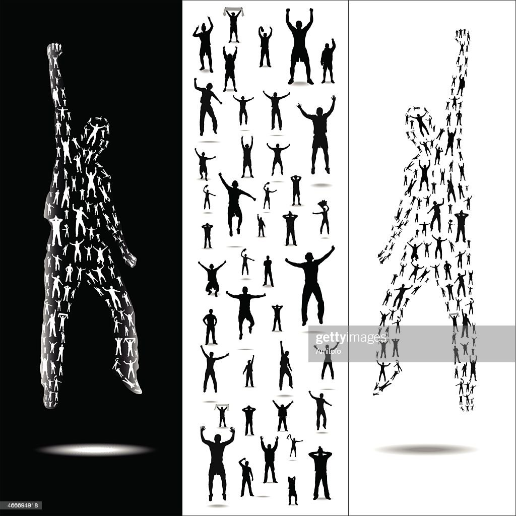 Silhouettes for sport and concerts