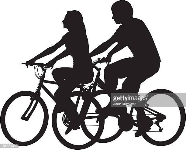 自転車に乗る - clip art点のイラスト素材/クリップアート素材/マンガ素材/アイコン素材