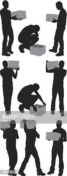 シルエット、男性用のボックス