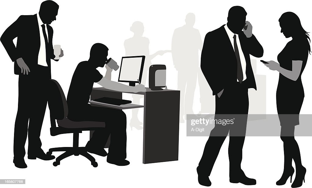 Silhouettes of business people Vector Silhouette
