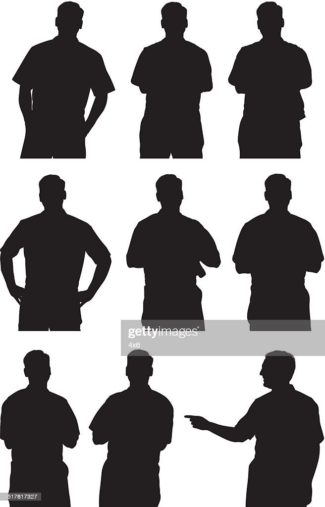 Silhouettes of mechanic