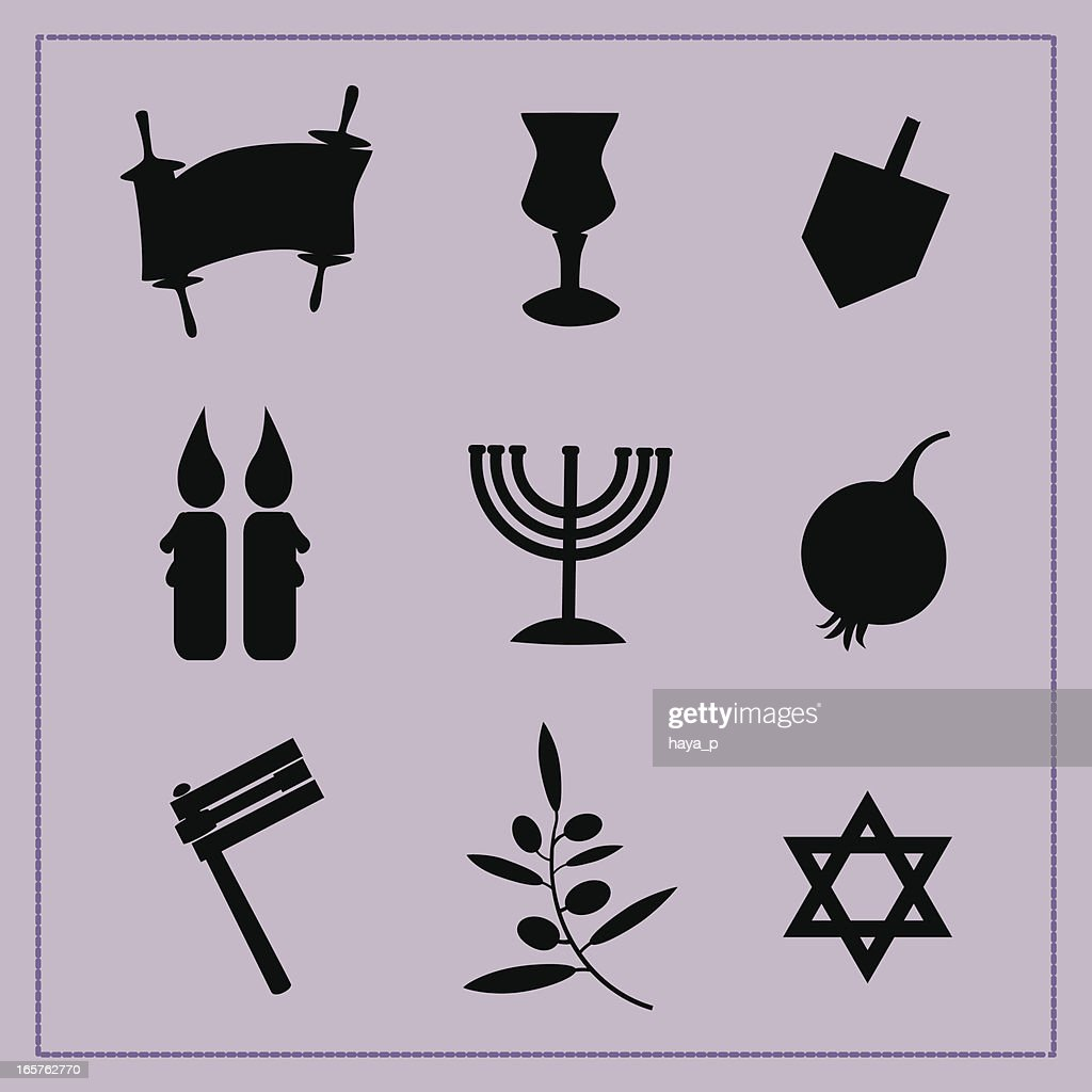 Silhouettes Of Religious Symbols Vector Art Getty Images