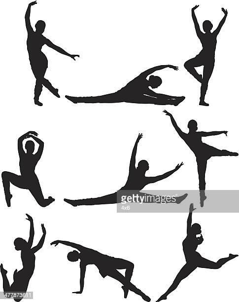 Illustrations et dessins anim s de grand cart getty images - Dessin d une danseuse ...