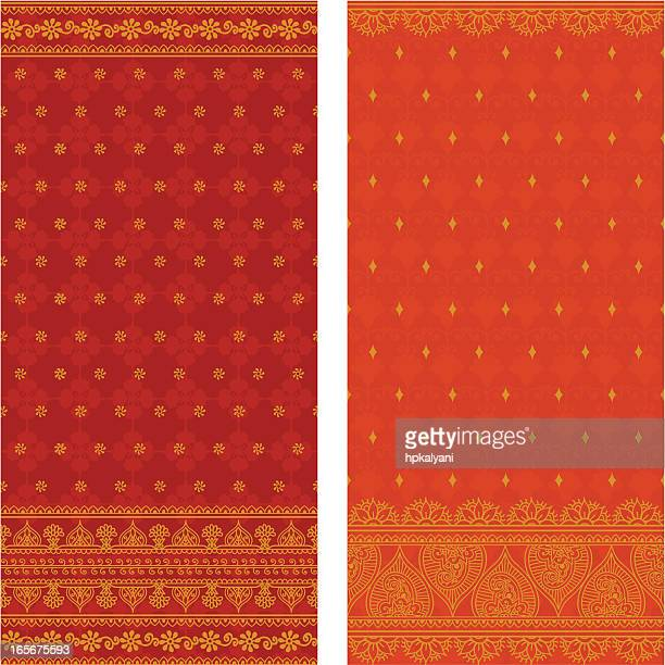 silk saris - sari stock illustrations