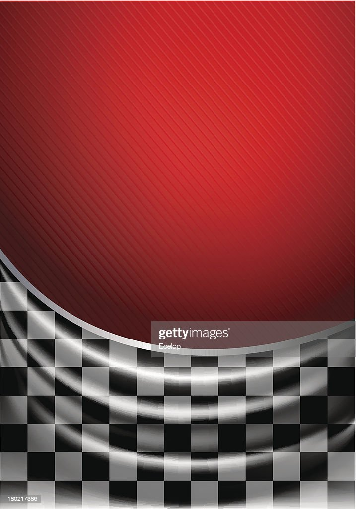 Silk tissue in checkered on a red background