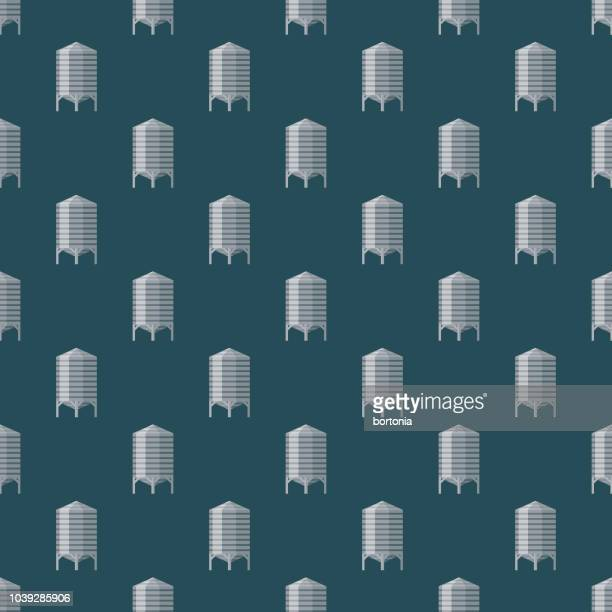 Silos Seamless Pattern