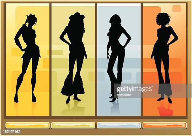 Siluetas femenina