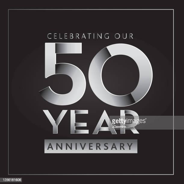 シルバー50周年記念ラベルデザイン - 50周年点のイラスト素材/クリップアート素材/マンガ素材/アイコン素材