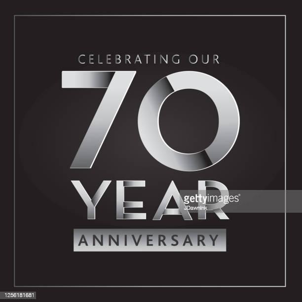 シルバー70周年記念ラベルデザイン - 70周年点のイラスト素材/クリップアート素材/マンガ素材/アイコン素材