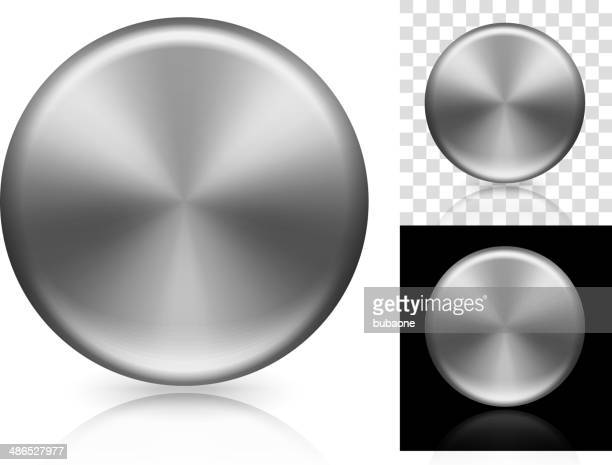 Silver Blank Circle Background Set