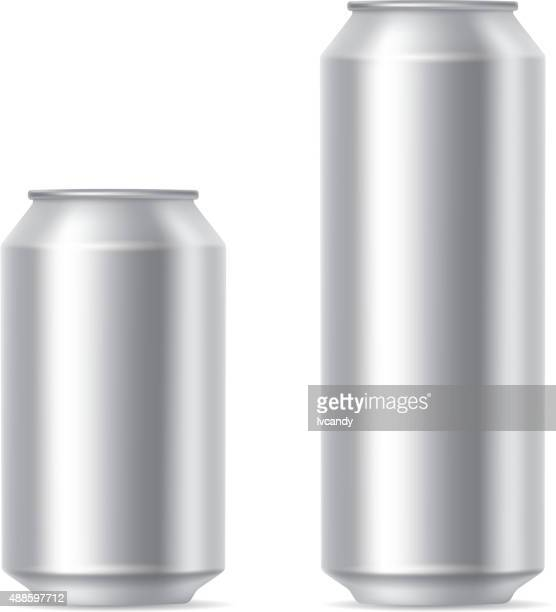silver cans - can stock illustrations