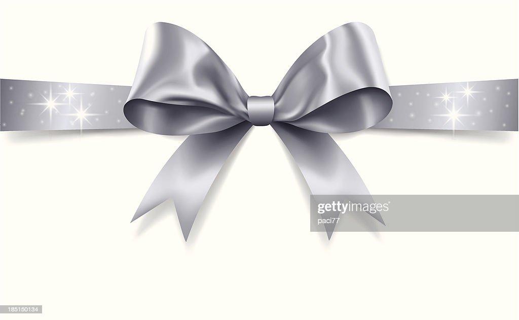Silver Gift Bow (Vector)