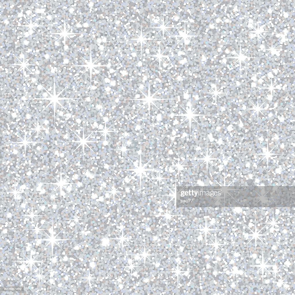 Silver Glitter Background : Vector Art