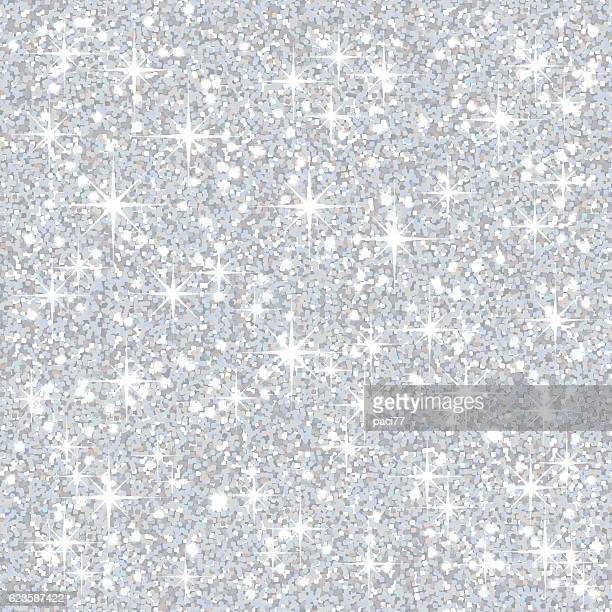 silver glitter background - silver metal stock illustrations, clip art, cartoons, & icons