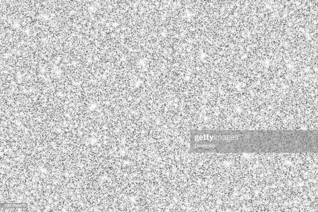 Silver glitter shiny vector background